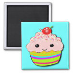 Cherry Top 2 Inch Square Magnet