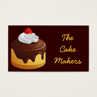 Cherry Topped Cake Business Card