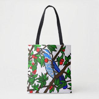 Cherry Tree Bird Tote Bag