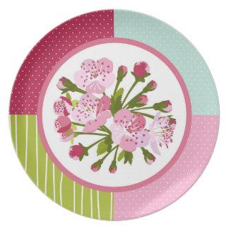 Cherry Tree Blossom Melamine Plate