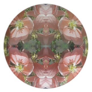 Cherry tree blossom pattern party plates