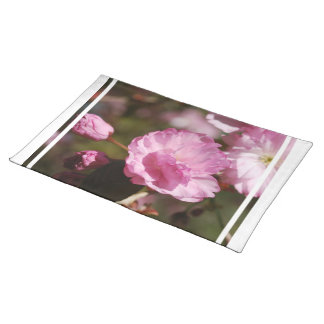Cherry Tree Blossoms Placemat Cloth Placemat