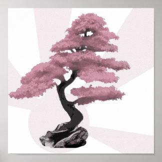 Cherry Tree Bonsai Poster