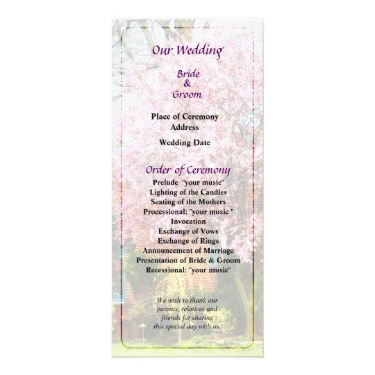 Cherry Tree by Brick House Wedding Program