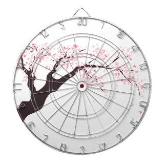 Cherry tree dartboard with darts