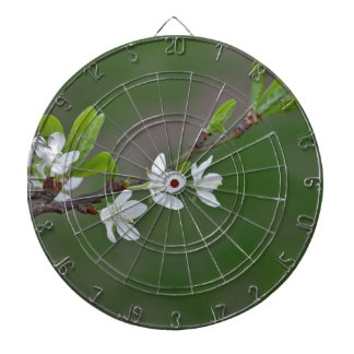 Cherry tree flowers dart board