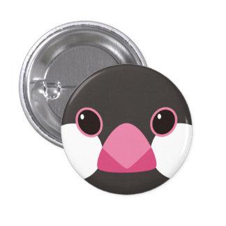 Cherry tree java sparrow - Java sparrow (black) Pinback Button