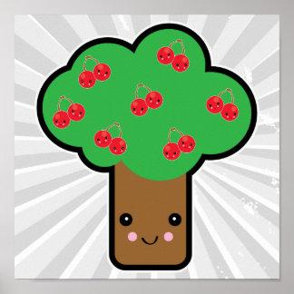 cherry tree kawaii print