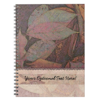 Cherry Tree Leaves Abstract Notebook