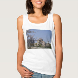 Cherry tree of spring of atomic bomb dome of the tank top