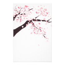 Cherry tree stationery