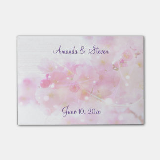 Cherry Tree with Pastel Pink Blossoms Wedding Post-it® Notes