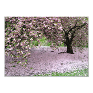 Cherry Trees Blossoms Spring in Central Park 5x7 Paper Invitation Card
