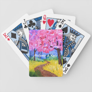 Cherry Trees Field Mustard After the Rain Painting Bicycle Playing Cards