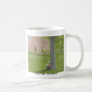 Cherry Trees - The Sketcher Classic White Coffee Mug