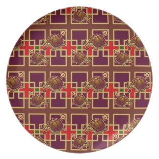 Cherry Turtle Pattern Plates