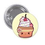 Cherry Vanilla Cupcake 1 Inch Round Button