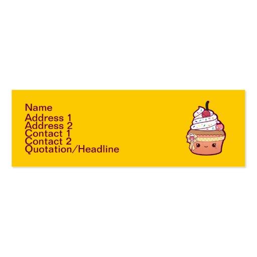 Cherry Vanilla Cupcake Business Card Template