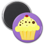 Cherry Vanilla Cupcake Fridge Magnet