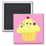 Cherry Vanilla Cupcake Magnets