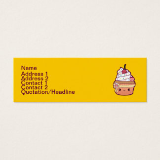Cherry Vanilla Cupcake Mini Business Card
