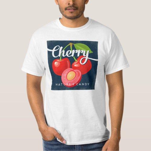Cherry Vintage Fruit Label Retro