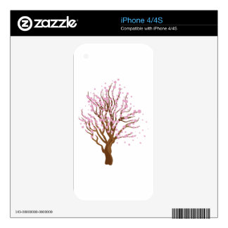 Cherry with blossom iPhone 4 skins
