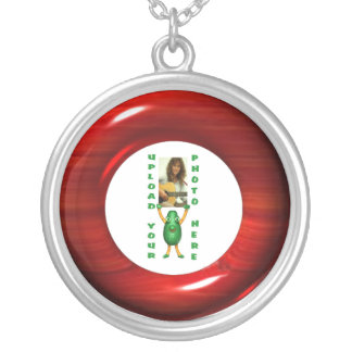 Cherry wood illusion necklace