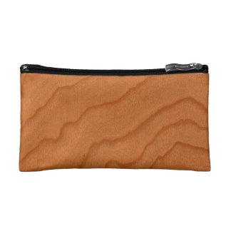 Cherry Wood Look Fine Grain Cosmetic Bag