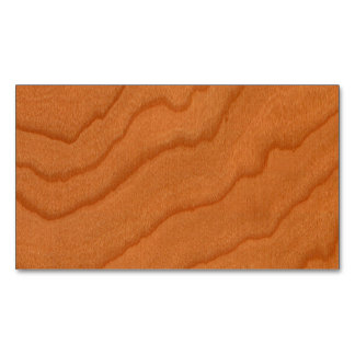 Cherry Wood Look Fine Grain Magnetic Business Cards (Pack Of 25)