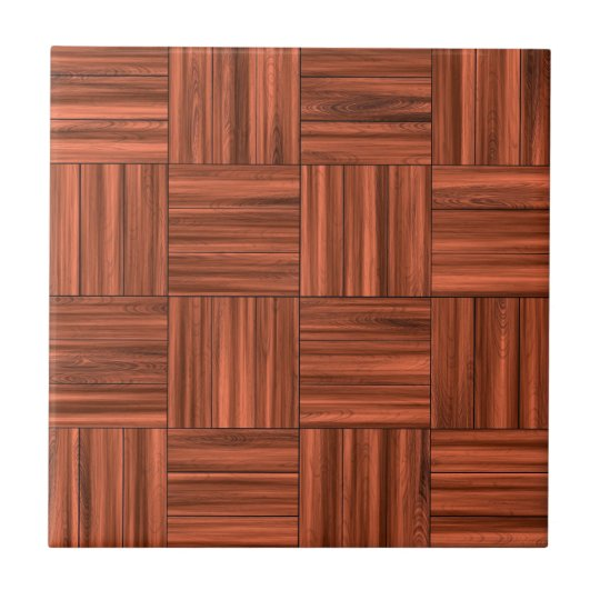 Cherry Wood Parquet Floor Pattern Ceramic Tile