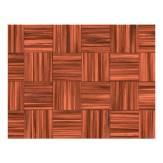 Cherry Wood Parquet Floor Pattern Flyer