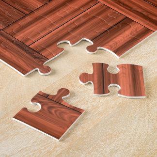 Cherry Wood Parquet Floor Pattern Jigsaw Puzzle
