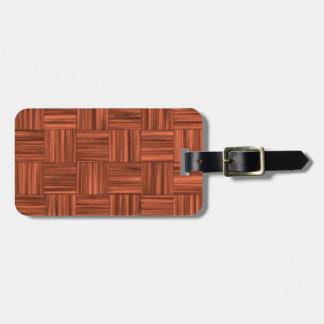 Cherry Wood Parquet Floor Pattern Luggage Tag
