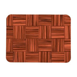 Cherry Wood Parquet Floor Pattern Magnet
