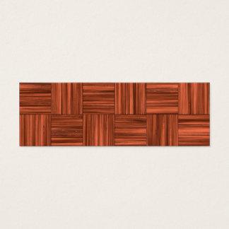 Cherry Wood Parquet Floor Pattern Mini Business Card