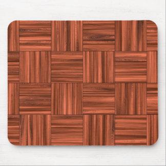 Cherry Wood Parquet Floor Pattern Mousepad