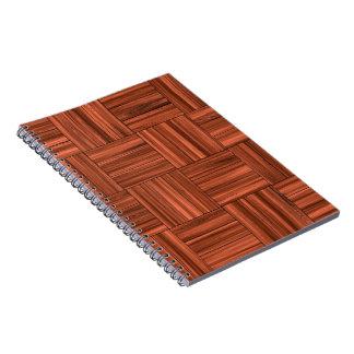 Cherry Wood Parquet Floor Pattern Notebook