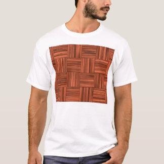 Cherry Wood Parquet Floor Pattern T-Shirt