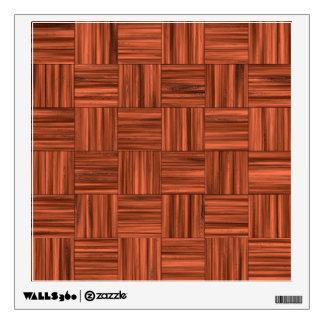 Cherry Wood Parquet Floor Pattern Wall Sticker