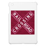 Cherry Wood Railroad Crossbuck Cover For The iPad Mini