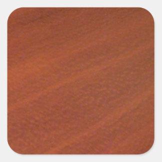 Cherry Wood Square Sticker