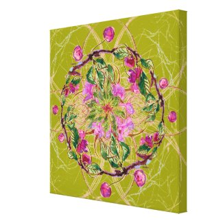 Cherry Wreath wrappedcanvas
