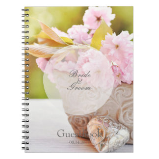 Cherryblossoms editable wedding guest book