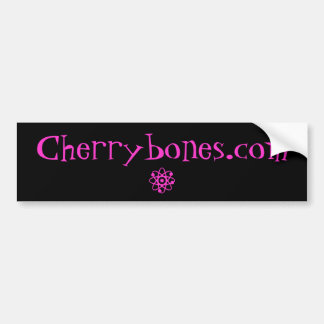 Cherrybones Web Advert Sticker Car Bumper Sticker
