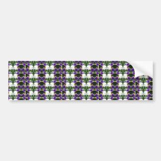 CherryHILL Purple Flower Pattern NVN220 NavinJOSHI Bumper Sticker