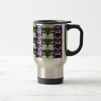 CherryHILL Purple Flower Pattern NVN220 NavinJOSHI Travel Mug