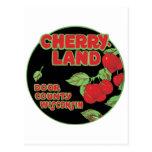 Cherryland el condado de Door Wisconsin Tarjeta Postal