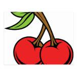 cherrys tarjeta postal
