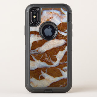 Chert with Quartz Veins Rock Texture Print OtterBox Defender iPhone X Case